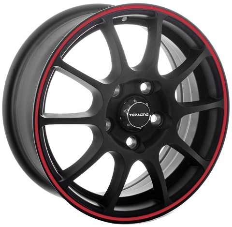 Диск TG R001 6.5R16 4*108 ET45 D67.1 MATT-BLACK-RED-RING1162290
