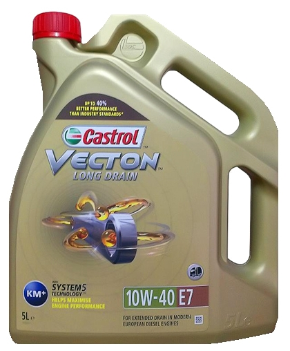 Масло моторное Castrol VECTION LONG DRAIN 10w40 E7 5л