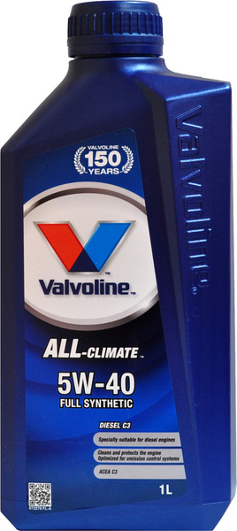 Масло моторное Valvoline ALL CLIMATE 5w40 1л.